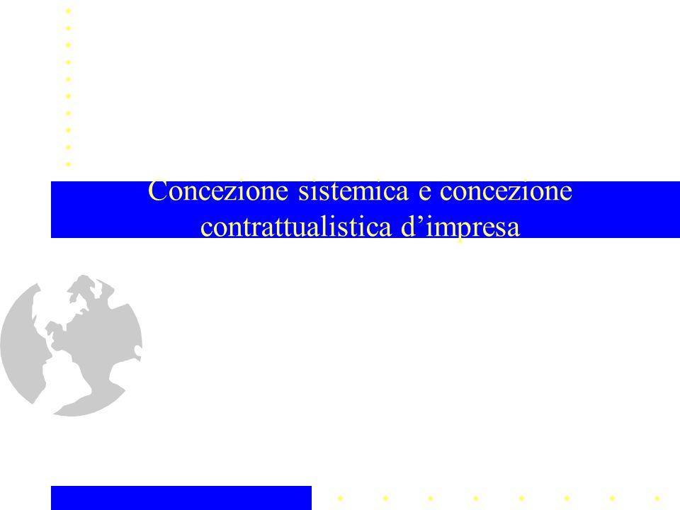 Concezione sistemica e concezione contrattualistica dimpresa