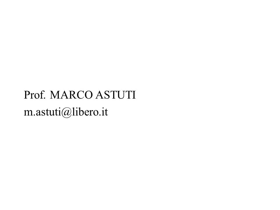 Prof. MARCO ASTUTI m.astuti@libero.it