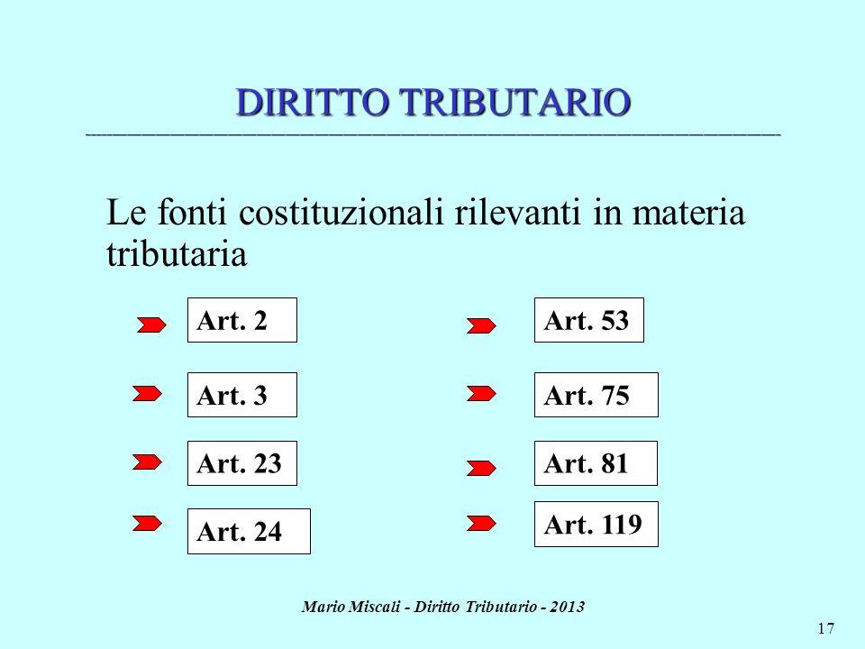 Mario Miscali - Diritto Tributario - 2013 17 DIRITTO TRIBUTARIO ______________________________________________________________________________________