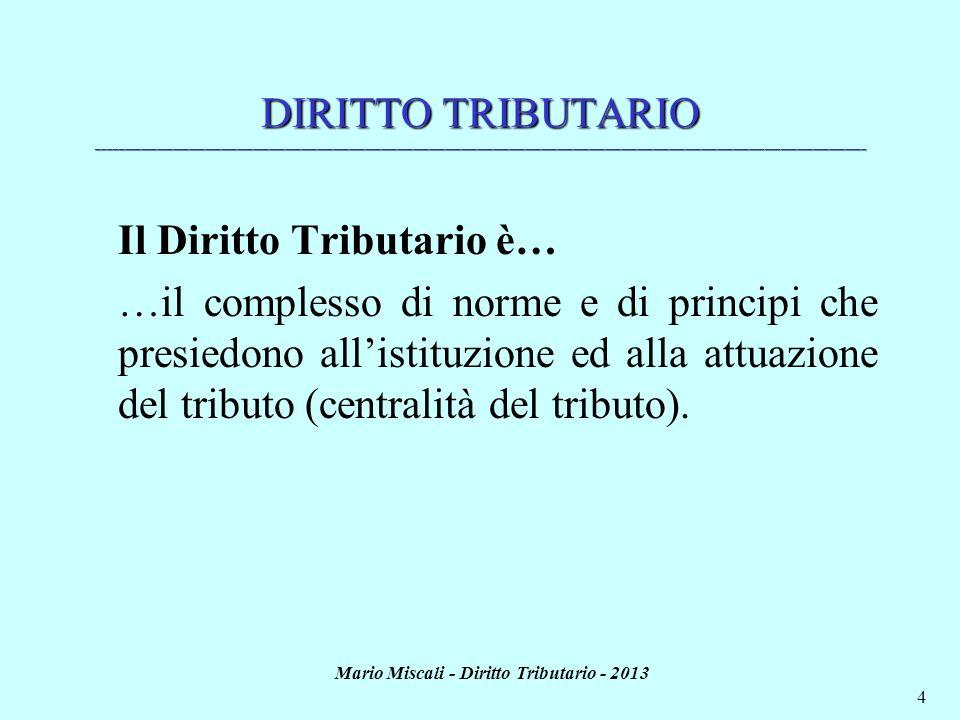 Mario Miscali - Diritto Tributario - 2013 4 DIRITTO TRIBUTARIO _______________________________________________________________________________________