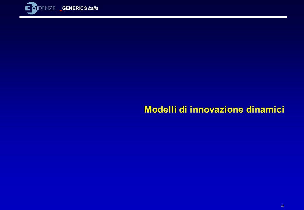 GENERICS Italia 45 Modelli di innovazione dinamici