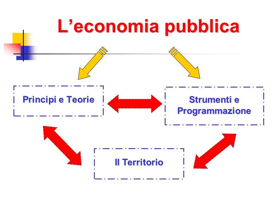 Leconomia pubblica Principi e Teorie Strumenti e Programmazione Il Territorio
