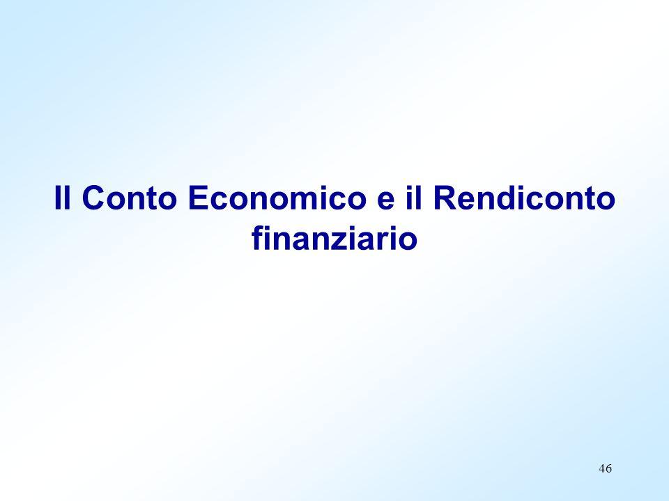 46 Il Conto Economico e il Rendiconto finanziario