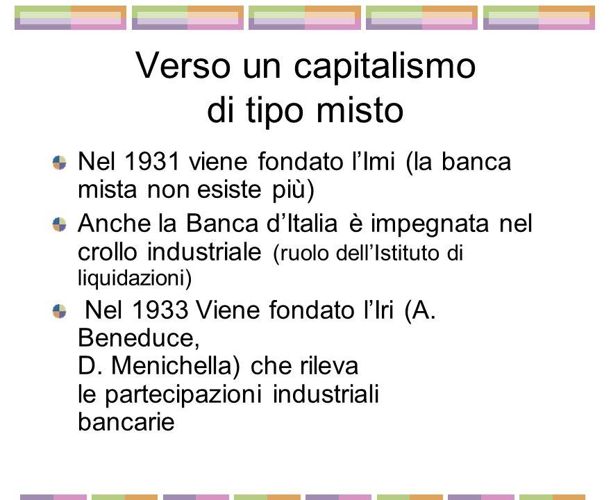 La fine della banca mista nella crisi del 29 1930 G. Toeplitz presidente al posto di A. Bocciardo Nuova fase espansiva del gruppo (Marghera assieme a