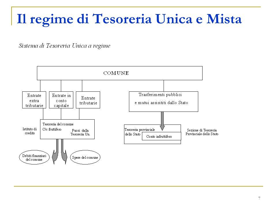 7 Il regime di Tesoreria Unica e Mista