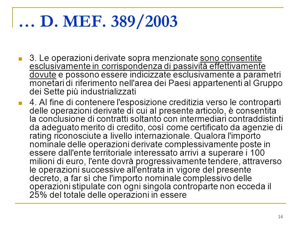 16 … D. MEF. 389/2003 3.