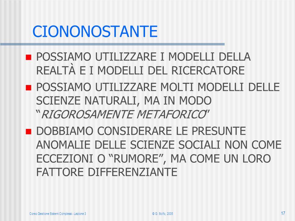 Corso Gestione Sistemi Complessi - Lezione 3© G.