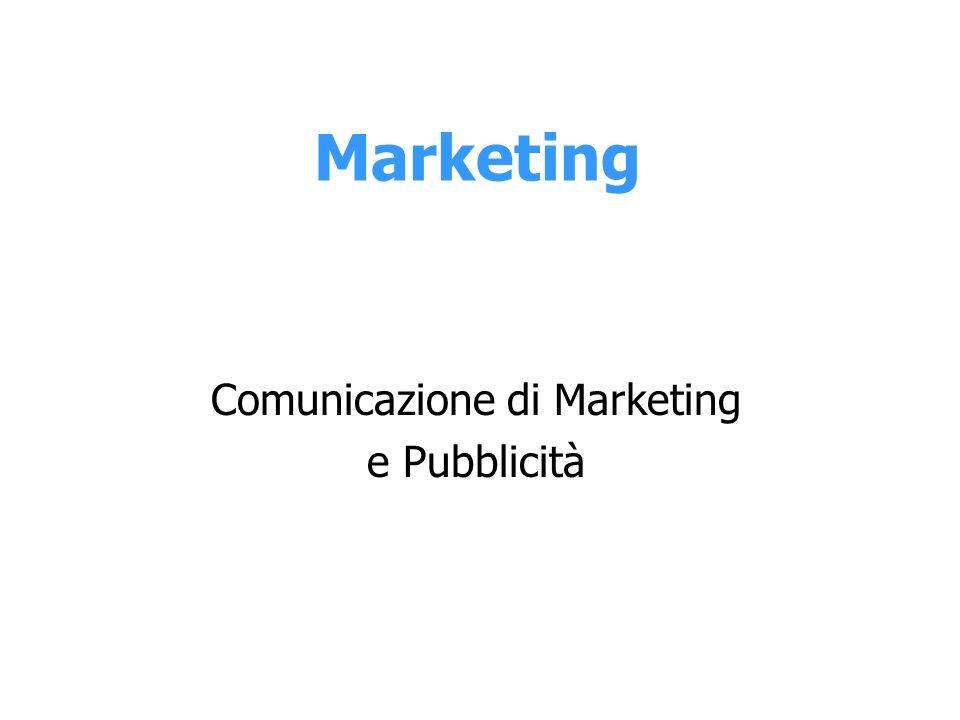 Marketing Comunicazione di Marketing e Pubblicità
