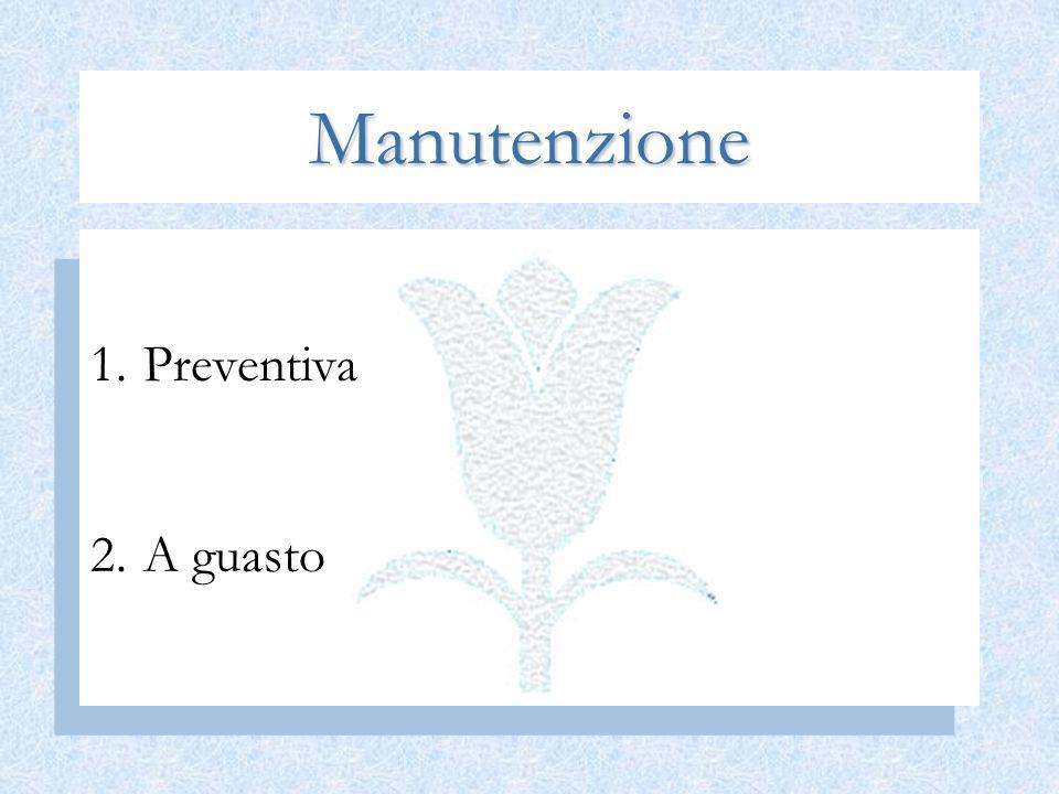 Manutenzione 1.Preventiva 2.A guasto