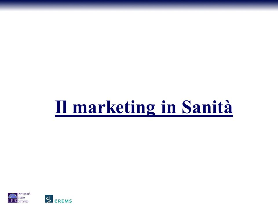 Il marketing in Sanità