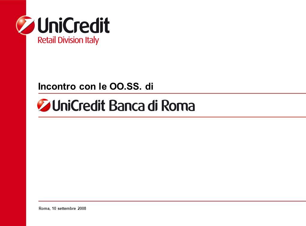 La Direzione Generale di UniCredit Banca di Roma al 1° Novembre Gestione Commerciale Crediti Direzioni Commerciali CEO Direttore Generale Business Services Risorse Umane Legale, Amministrazione, Finanza, Amminis.