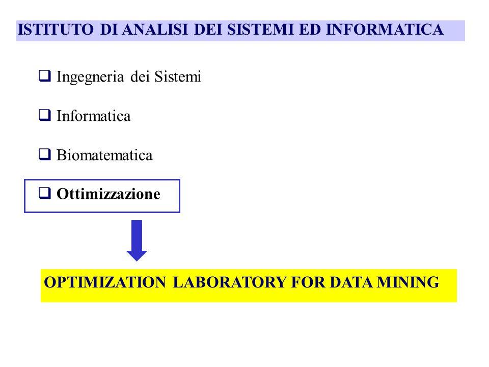 Data mining: apprendimento automatico di informazioni, correlazioni e caratteristiche significative da basi di dati di grandi dimensioni relative a processi di varia natura Motivazione: esigenza di analizzare e comprendere fenomeni complessi descritti in modo esplicito solo parzialmente e informalmente da insiemi di dati