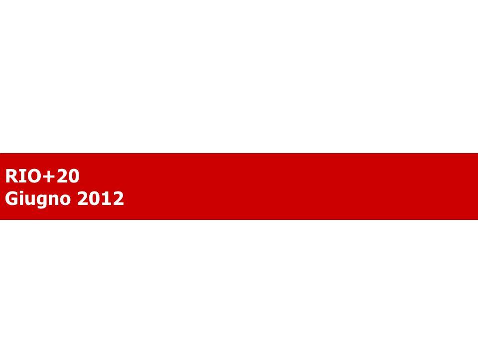 . RIO+20 Giugno 2012
