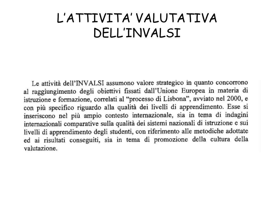 LATTIVITA VALUTATIVA DELLINVALSI
