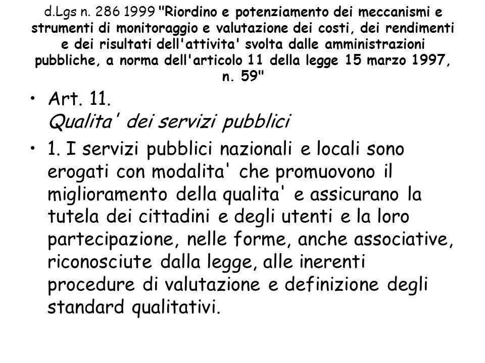 d.Lgs n. 286 1999