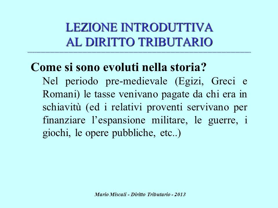 Mario Miscali - Diritto Tributario - 2013 UN CASO PRATICO...