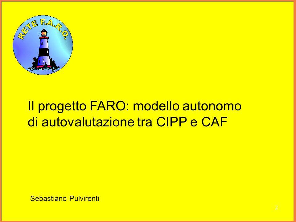 Il progetto FARO: modello autonomo di autovalutazione tra CIPP e CAF Sebastiano Pulvirenti 2