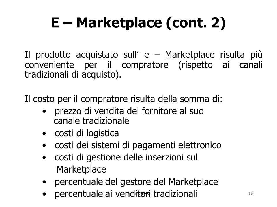 E-Business16 E – Marketplace (cont.