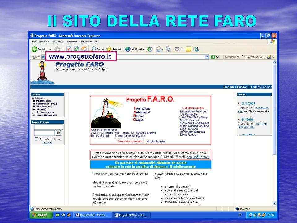 Ogni scuola della Rete trasferisce i propri dati via e-mail allindirizzo assistenza@progettofaro.it www.progettofaro.it www.progettofaro.it