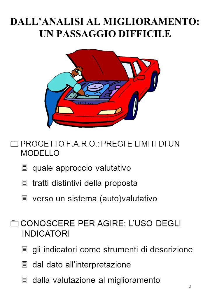 3 PROGETTO F.A.R.O.: PREGI E LIMITI DI UN MODELLO Il progetto F.A.R.O.