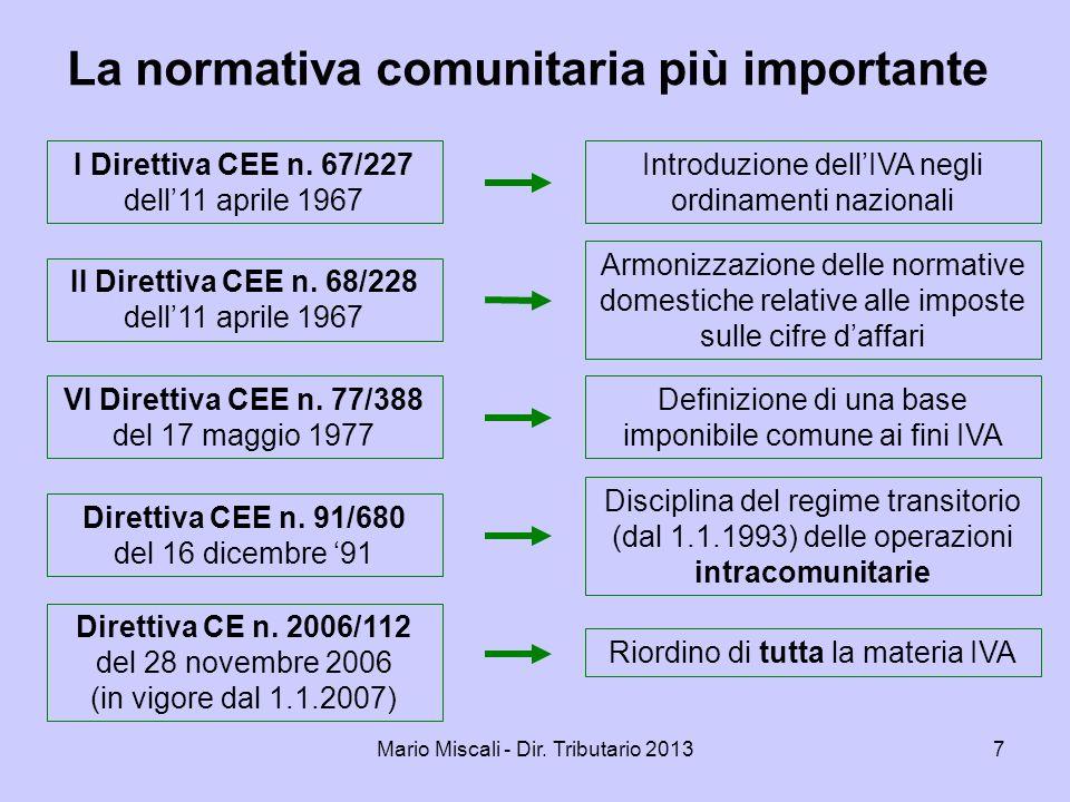 Mario Miscali - Dir.Tributario 201338 La legge n.