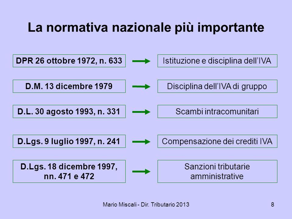 Mario Miscali - Dir.Tributario 201329 Art. 3, co.