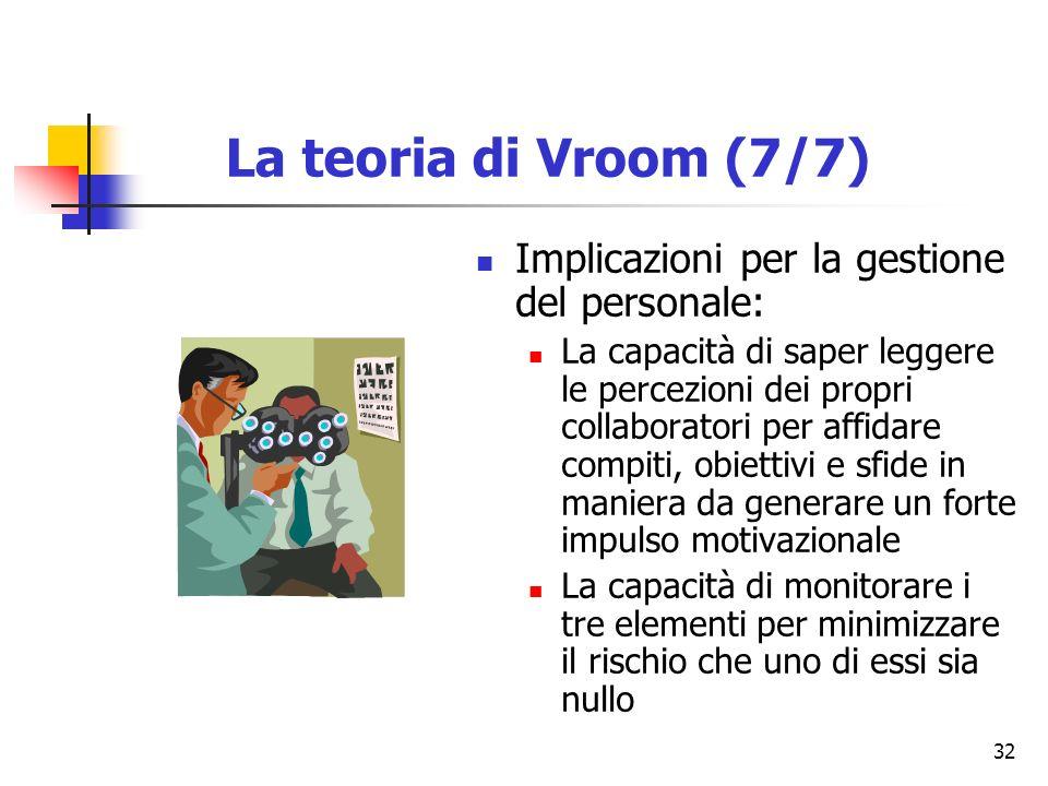 32 Implicazioni per la gestione del personale: La capacità di saper leggere le percezioni dei propri collaboratori per affidare compiti, obiettivi e s