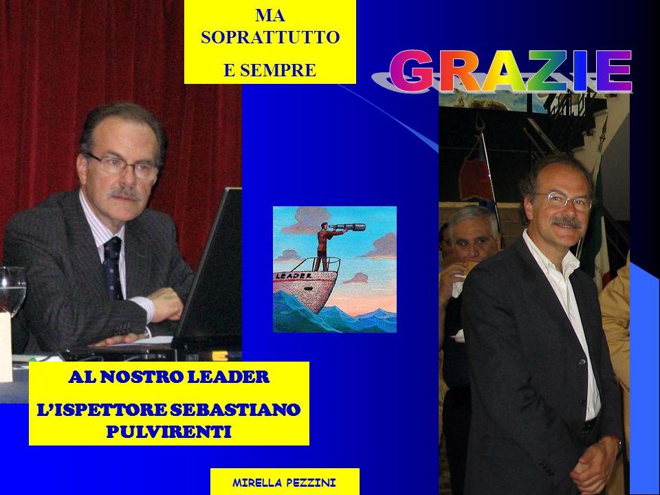 AL NOSTRO LEADER LISPETTORE SEBASTIANO PULVIRENTI MA SOPRATTUTTO E SEMPRE MIRELLA PEZZINI