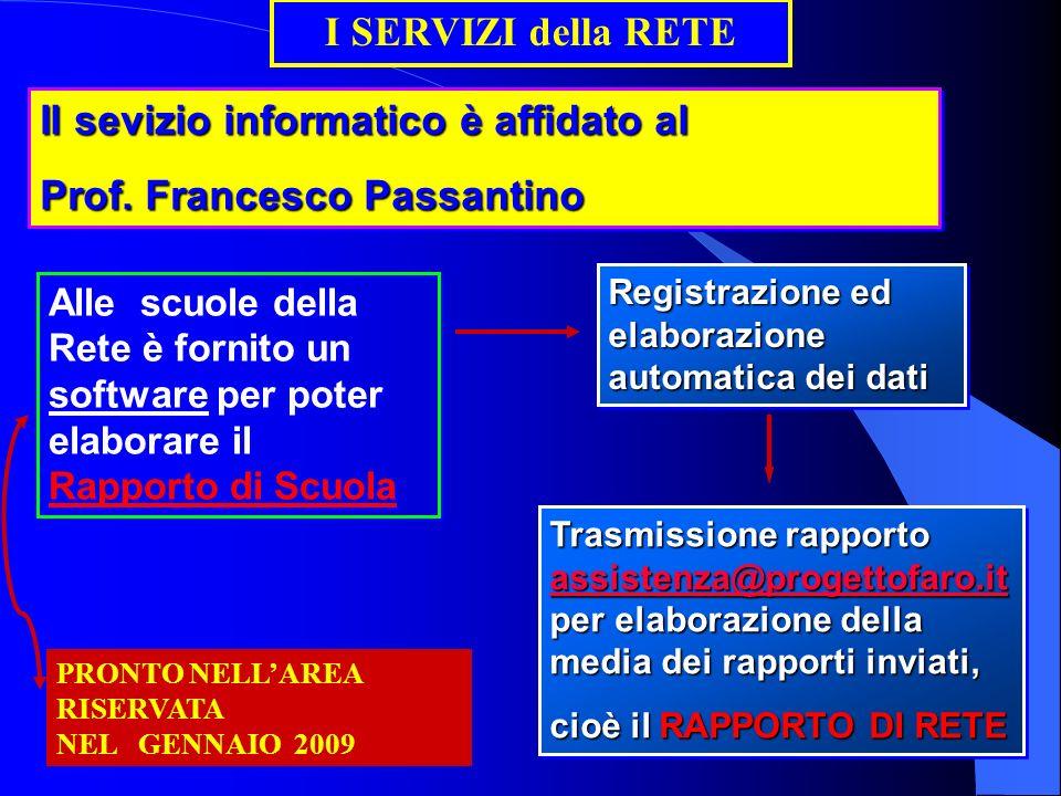 Il sevizio informatico è affidato al Prof. Francesco Passantino Il sevizio informatico è affidato al Prof. Francesco Passantino Alle scuole della Rete