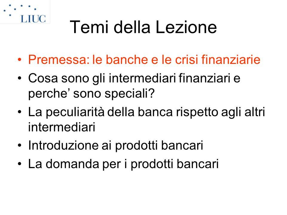 Premesse (I) Sistemi finanziari e bancari condizionati da cause storiche Storia bancaria caratterizzata da discontinuità e crisi.