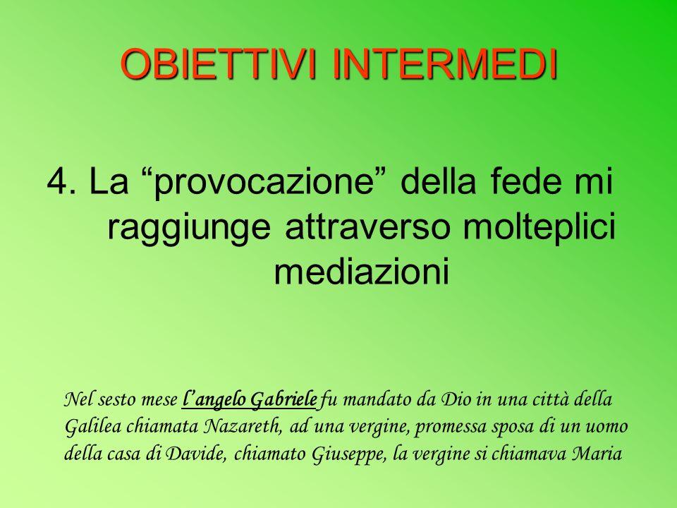 OBIETTIVI INTERMEDI 4.