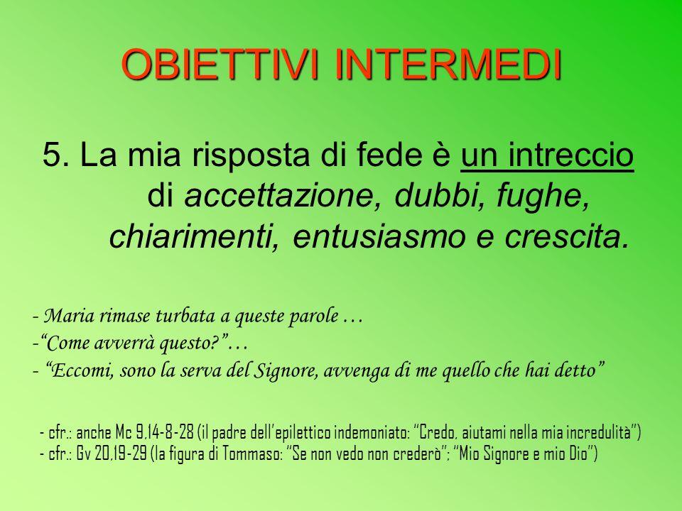 OBIETTIVI INTERMEDI 5.