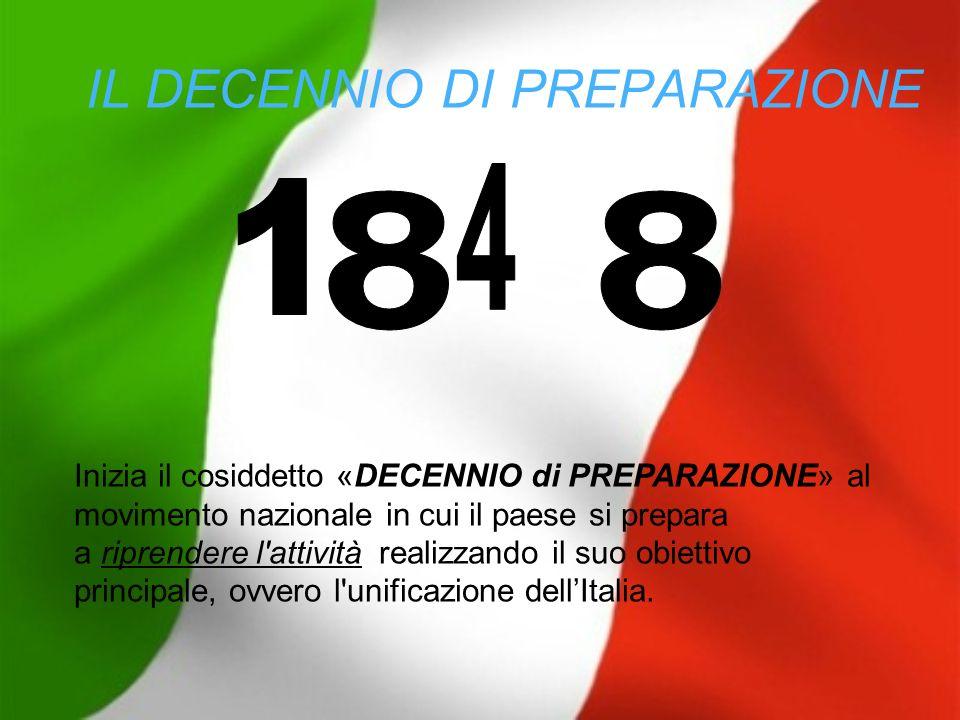 IL DECENNIO DI PREPARAZIONE Inizia il cosiddetto «DECENNIO di PREPARAZIONE» al movimento nazionale in cui il paese si prepara a riprendere l'attività
