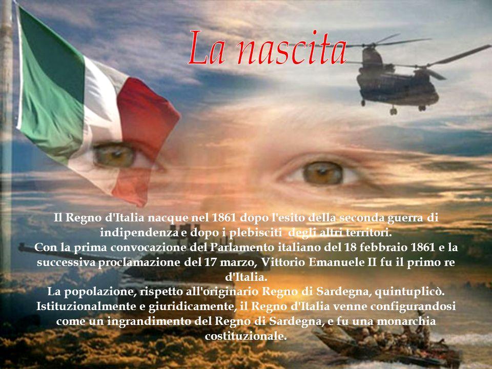 Il Regno d'Italia nacque nel 1861 dopo l'esito della seconda guerra di indipendenza e dopo i plebisciti degli altri territori. Con la prima convocazio