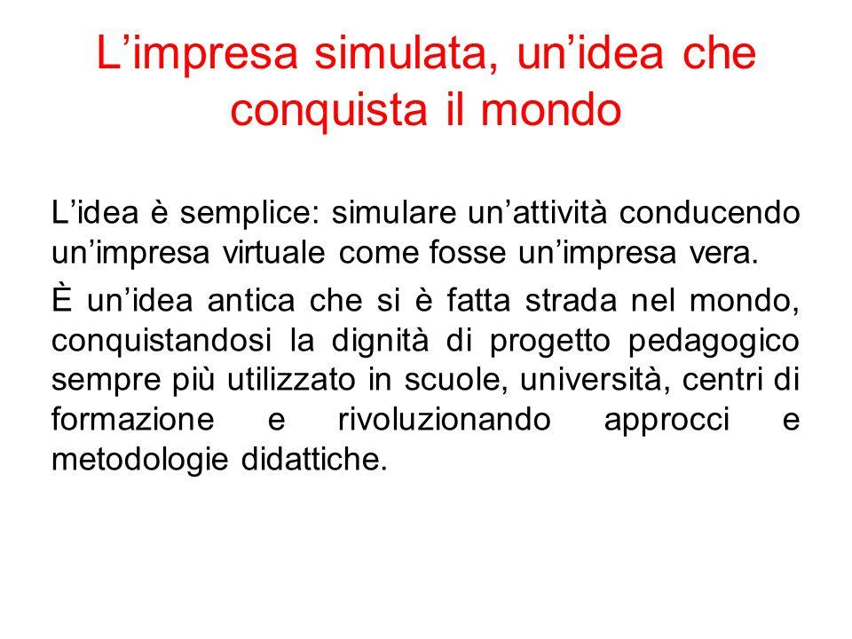 Lesperienza italiana In Italia lintroduzione della simulazione dimpresa è datata 1994.