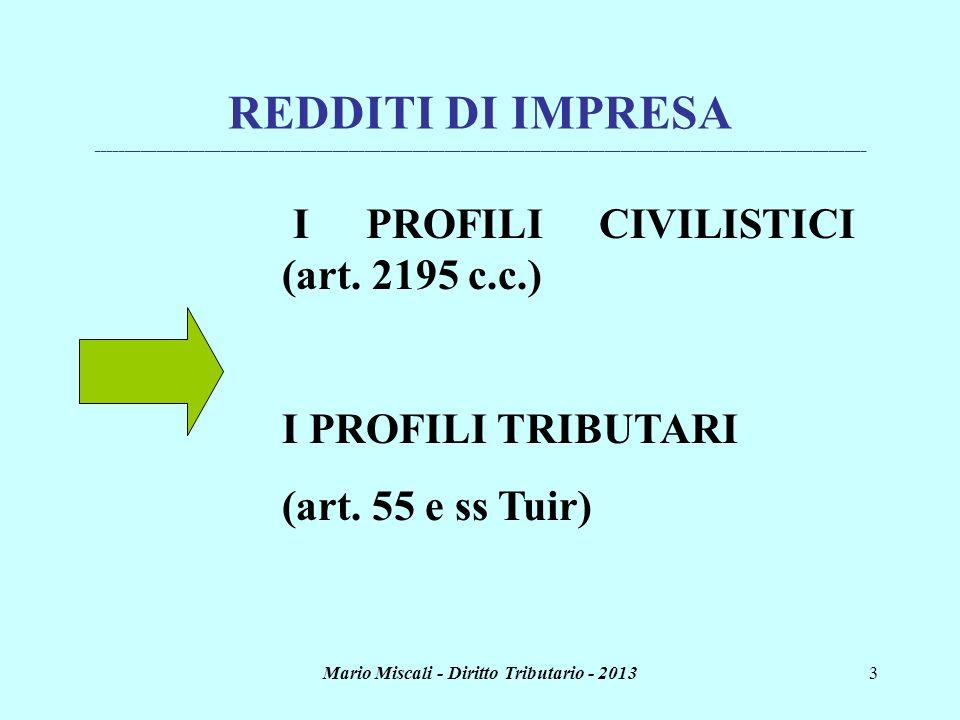 Mario Miscali - Diritto Tributario - 20133 REDDITI DI IMPRESA ________________________________________________________________________________________