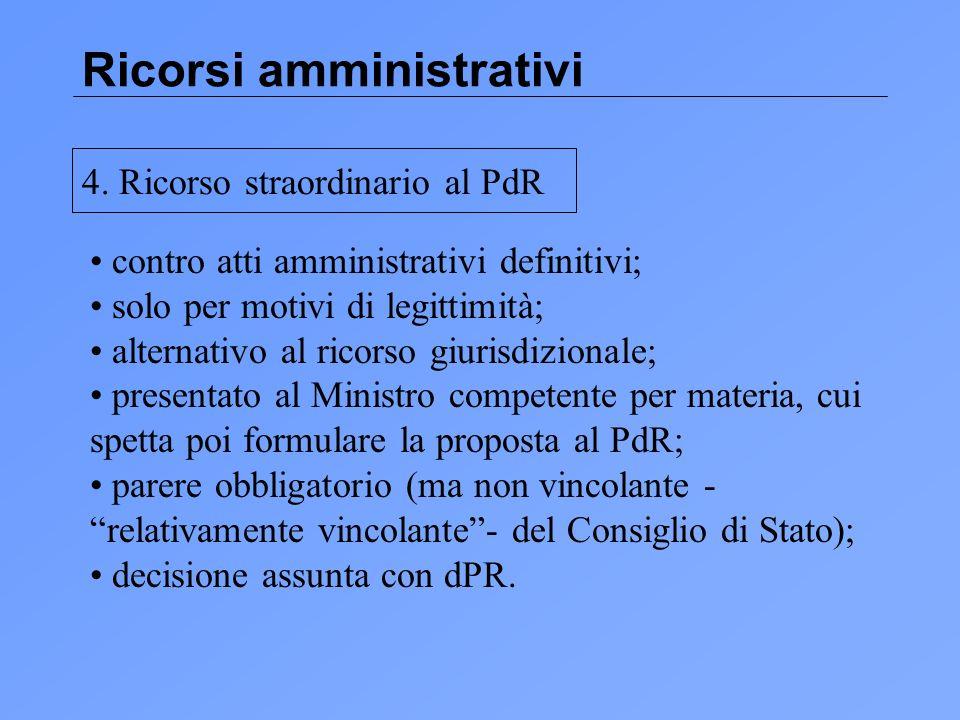 Ricorsi amministrativi 4.