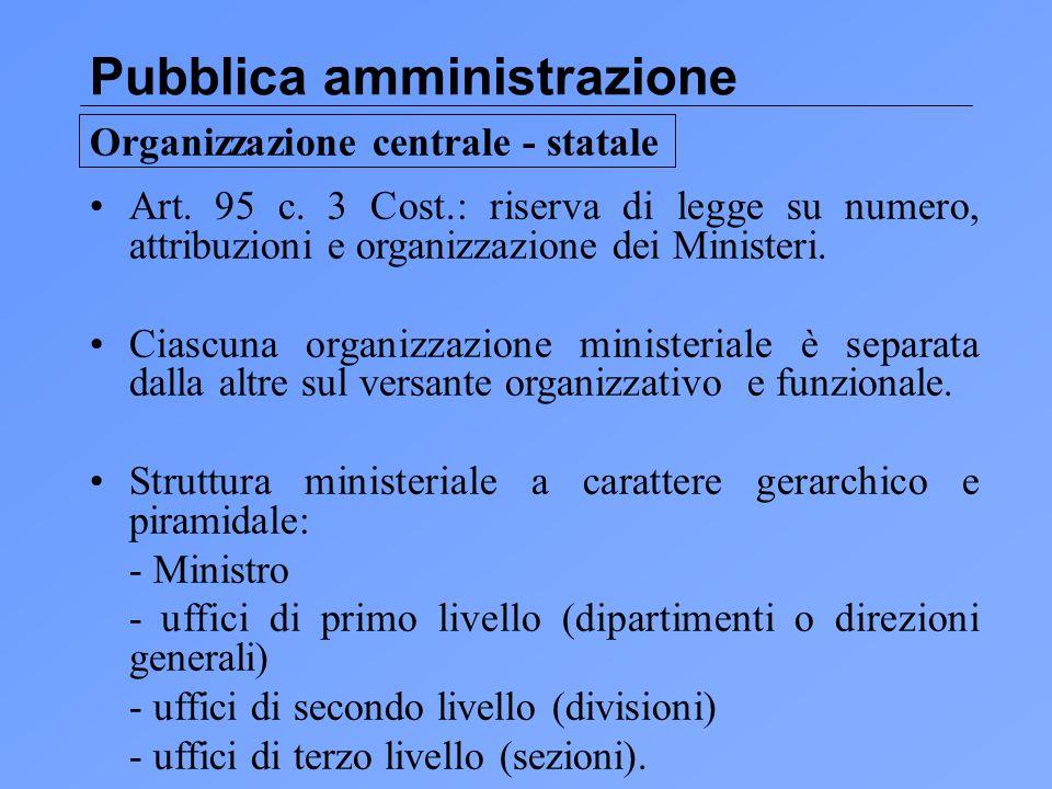 Pubblica amministrazione Art.95 c.