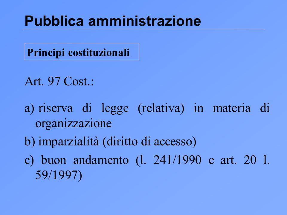 Pubblica amministrazione Art.