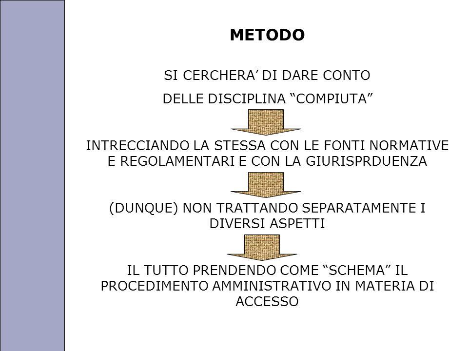 Università degli Studi di Perugia METODO SI CERCHERA DI DARE CONTO DELLE DISCIPLINA COMPIUTA INTRECCIANDO LA STESSA CON LE FONTI NORMATIVE E REGOLAMEN