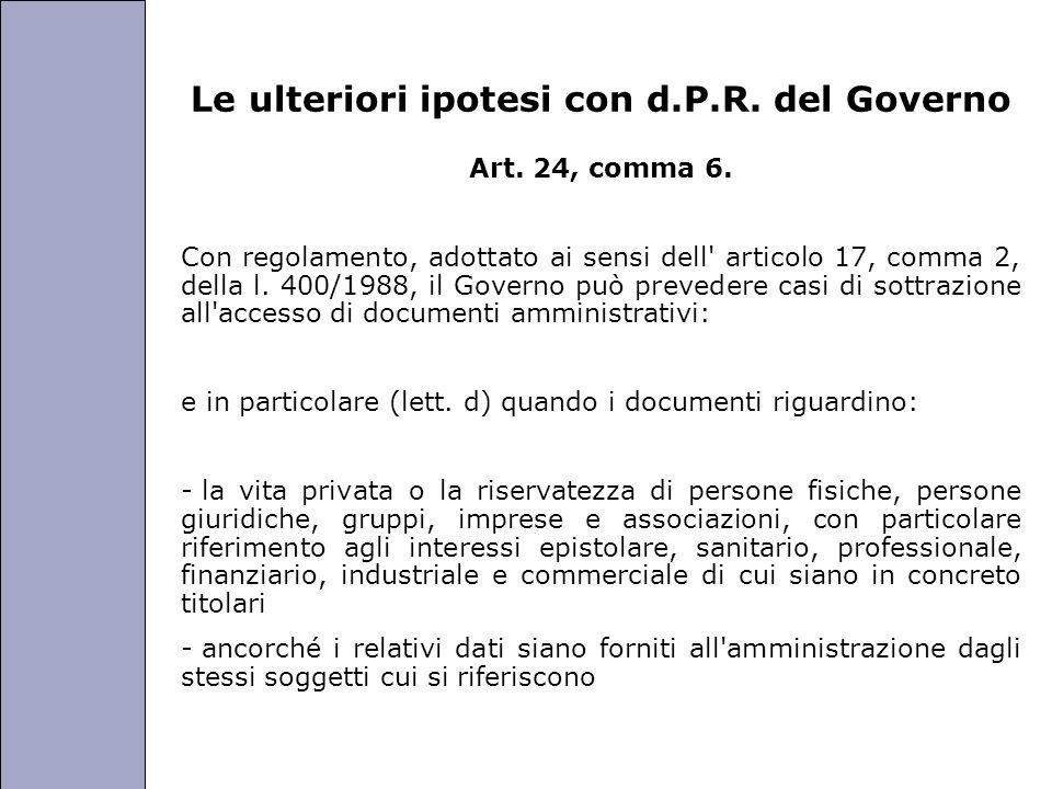 Università degli Studi di Perugia Le ulteriori ipotesi con d.P.R.