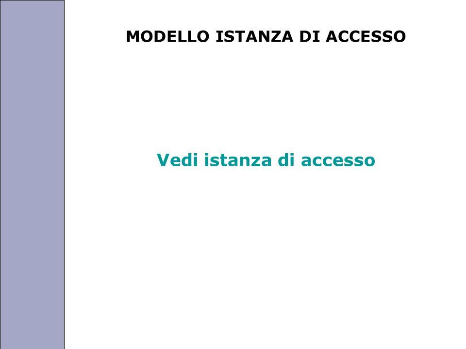 Università degli Studi di Perugia MODELLO ISTANZA DI ACCESSO Vedi istanza di accesso