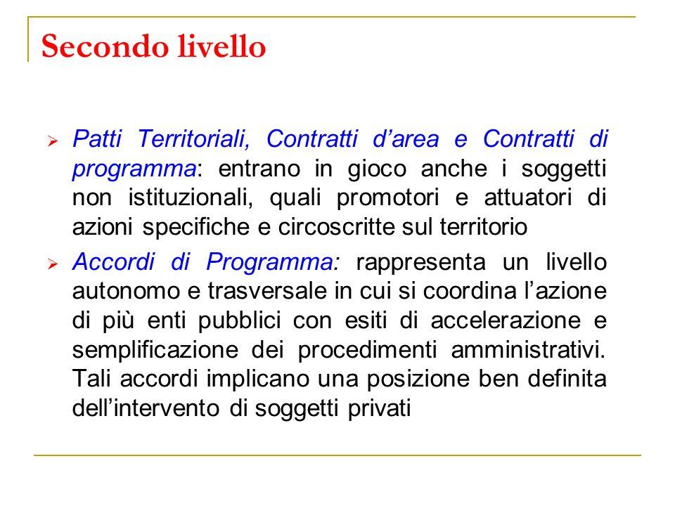 Secondo livello Patti Territoriali, Contratti darea e Contratti di programma: entrano in gioco anche i soggetti non istituzionali, quali promotori e a