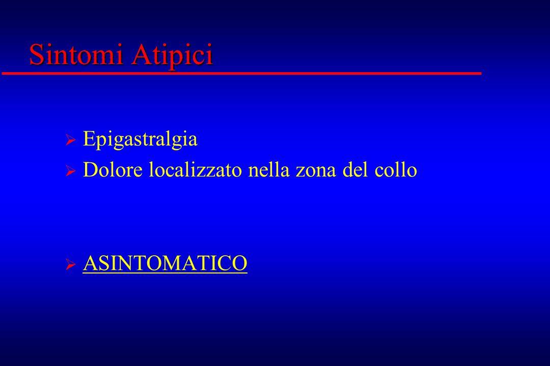 Sintomi Atipici Epigastralgia Dolore localizzato nella zona del collo ASINTOMATICO