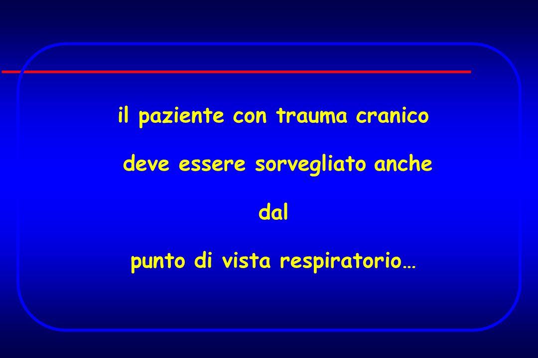 il paziente con trauma cranico deve essere sorvegliato anche dal punto di vista respiratorio…
