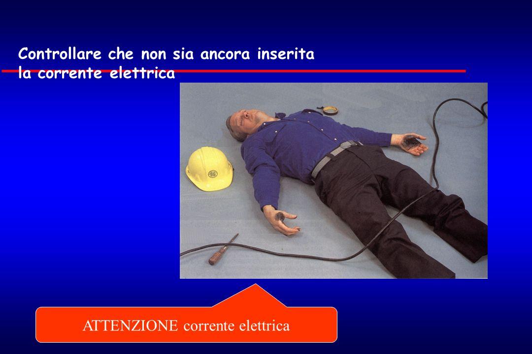 ATTENZIONE corrente elettrica Controllare che non sia ancora inserita la corrente elettrica