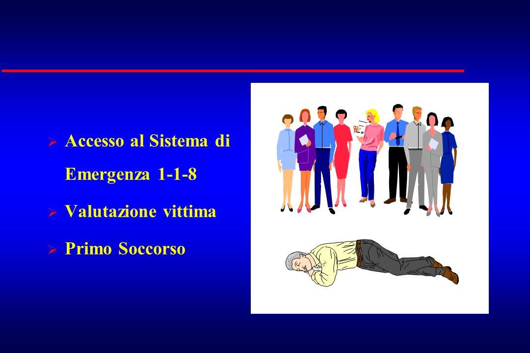 Accesso al Sistema di Emergenza 1-1-8 Valutazione vittima Primo Soccorso