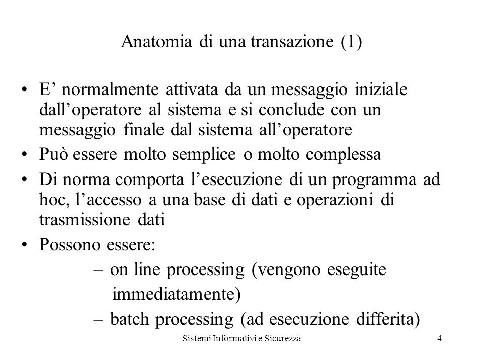 Sistemi Informativi e Sicurezza25 SICUREZZA in situazione anomala (6) PKI.