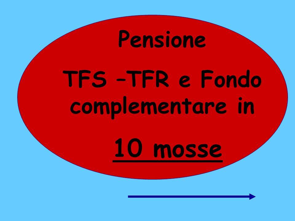 Pensione TFS –TFR e Fondo complementare in 10 mosse