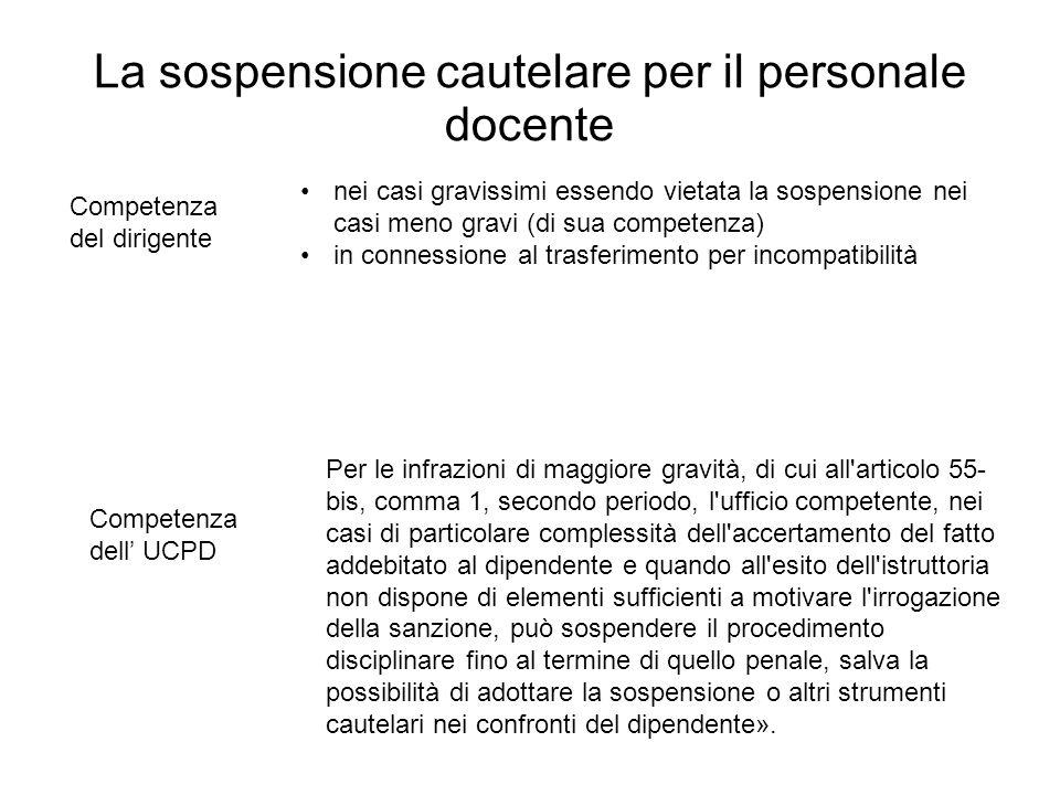 La sospensione cautelare per il personale docente Competenza del dirigente nei casi gravissimi essendo vietata la sospensione nei casi meno gravi (di